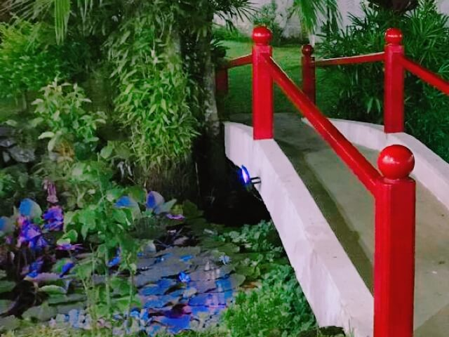 日本風の庭園(会場にて)