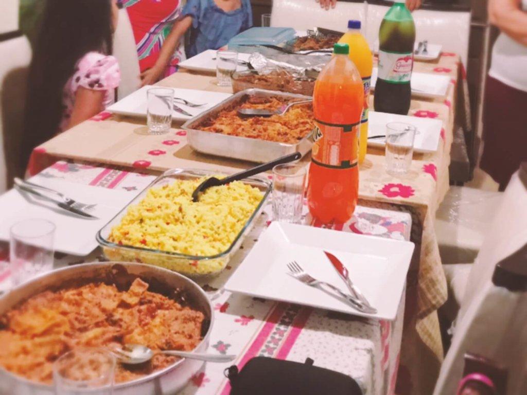 パーティのお料理と飲み物
