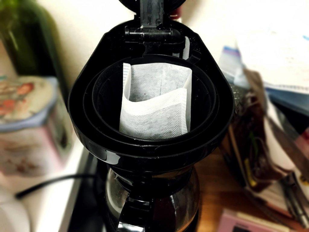 コーヒーフィルターをお茶パックで代用