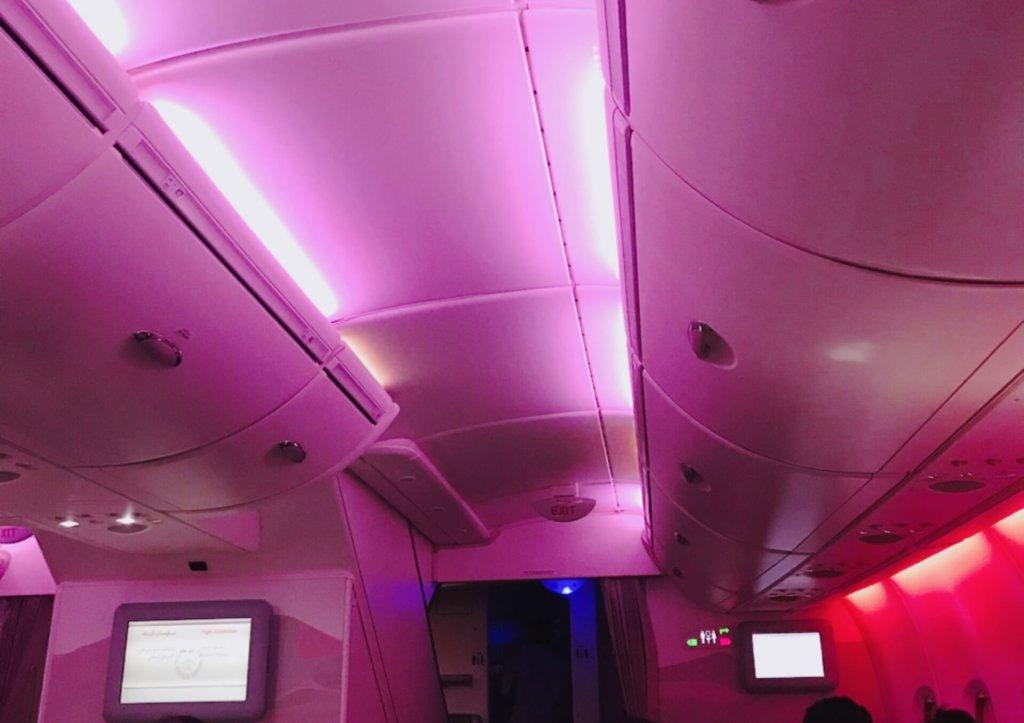 機内天井の様子